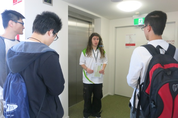 A haller conducting guided tours for our visitors