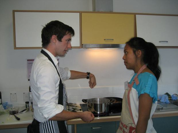 Team Vespa in the kitchen